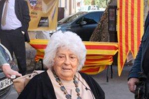 """Teresa Rebull a l'acte de """"Signa un vot per la independència"""" de Ceret, al Vallespir Foto: A.R."""